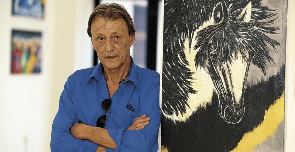 Muchos de los cuadros de Hansen expresan el arte pampeano y temas referidos a los caballos
