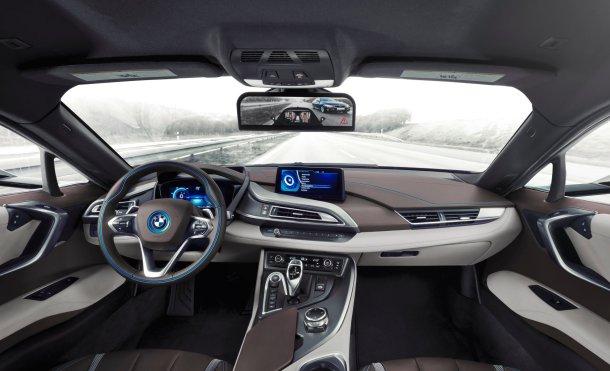 Así es como se ve un coche sin espejos, sólo pantallas y cámaras