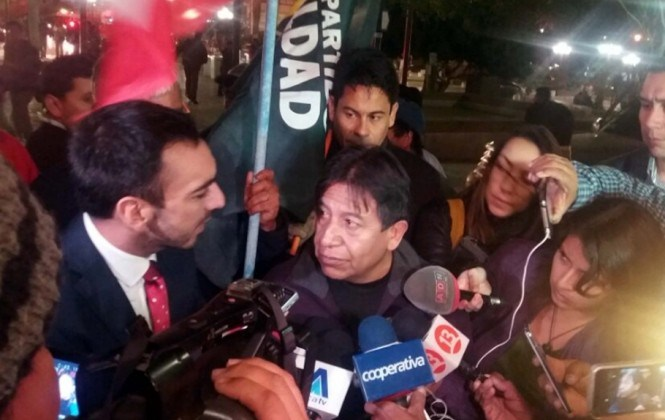 """Morales critica """"bloqueo"""" de Chile a canciller Choquehunaca y lo califica como un acto de racismo"""