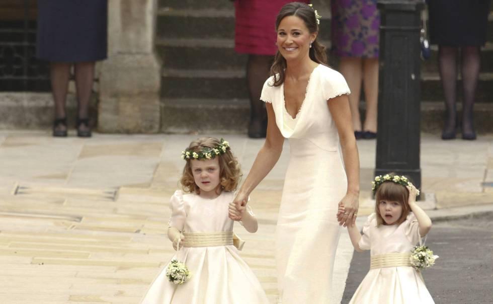 Pippa Middleton, el día de la boda de su hermana Kate.