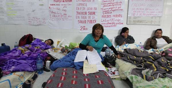 El segundo día de paro y huelga de hambre en el San Juan de Dios