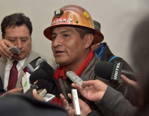 Guido Mitma, dirigiente máximo de la COB. Foto: La Razón