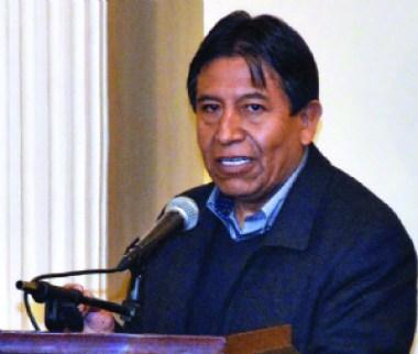 """Choquehuanca y su candidatura: """"Hay que escuchar al pueblo"""""""