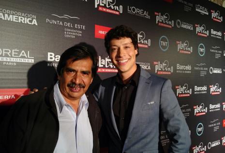 El cineasta Alejandro Fuentes y el actor Reynaldo Pacheco