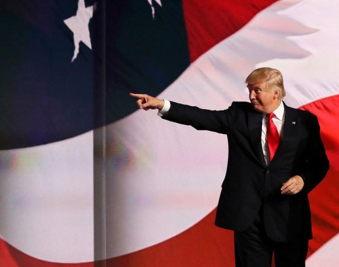 Donald Trump durante la convención republicana