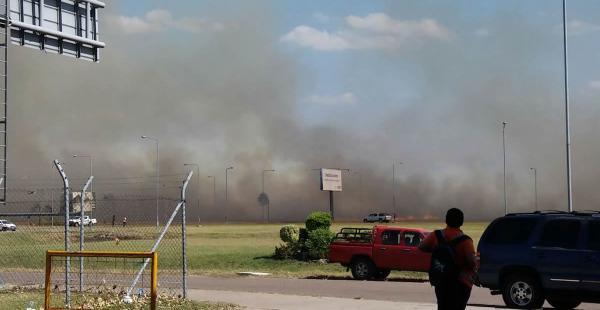 El fuego se inició cerca de las 13:00 en una zona próxima a la avenida G 77