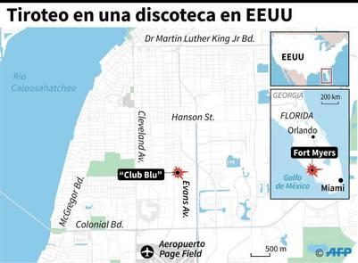 Localización de un tiroteo en una discoteca en Fort Myers, Florida / AFP