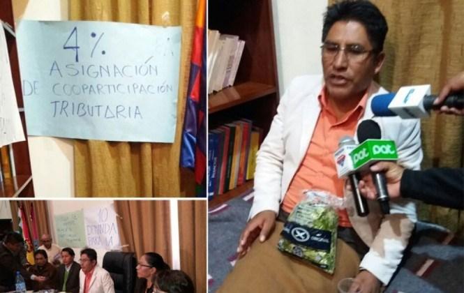 Gobernador Patzi se declara en huelga de hambre en demanda de más recursos para La Paz