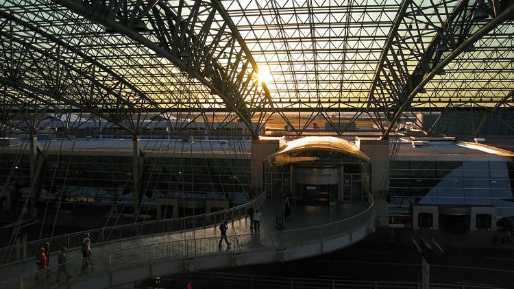 El Aeropuerto Internacional de Portland.