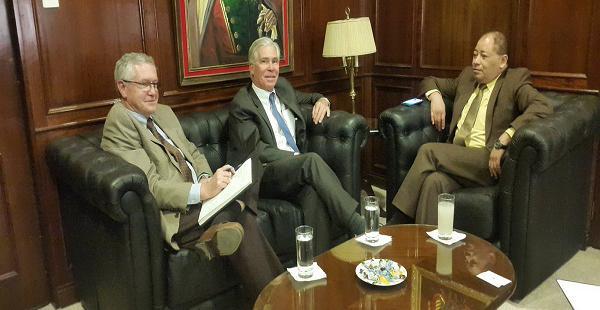 El ministro de Gobierno sostuvo un encuentro con el Encargado de Negocios de la embajada de Estados Unidos.