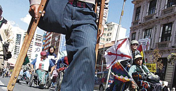 Las personas con discapacidad están en La Paz desde mayo