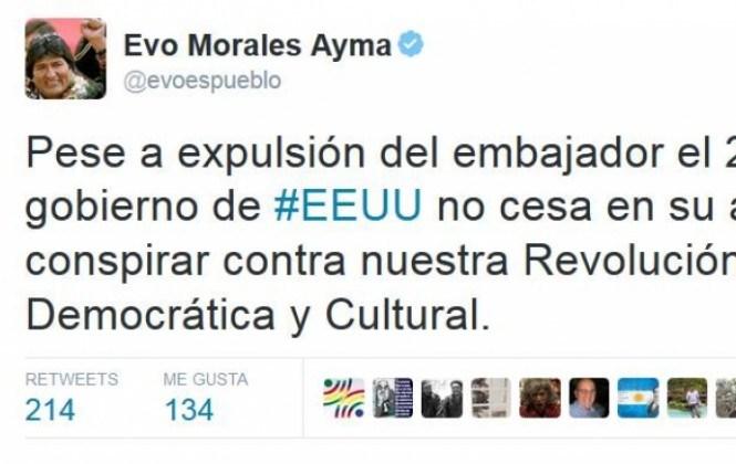 """Evo Morales asegura que EEUU sigue en su intento de """"conspirar"""" contra su Gobierno"""