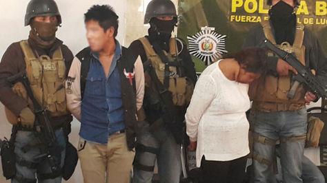 Elmer Ivan Ch. M. y Abigail Ch. M. fueron por la Policía como los autores del secuestro de la niña Camila Cruz.