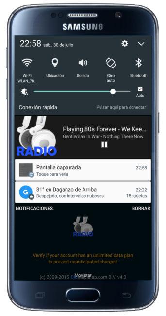 Integración RADIO para Android