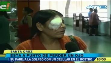 Un hombre reventó el ojo de su pareja a golpes