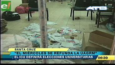 """ICU: """"El miércoles se refunda la UAGRM"""""""