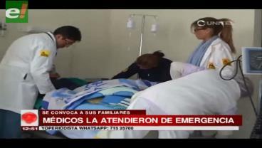 La Paz. Persona con discapacidad es internada de emergencia debido a una infección