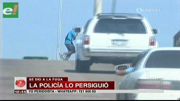 Ebrio chocó, huyó en micro y fue detenido por la policía