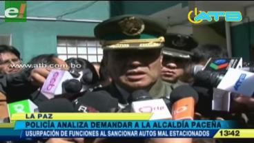 La Policía podría demandar a la Alcaldía de La Paz
