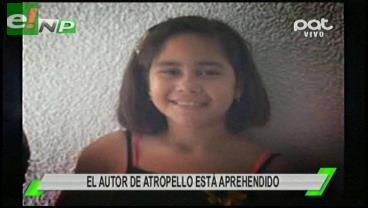 Conductor que atropelló a niña de 7 años está tras las rejas
