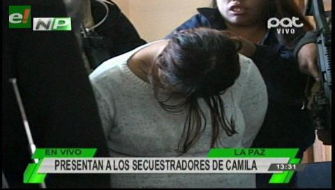 Presentan a los secuestradores de Camila Cruz