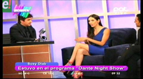 Susy Diab entrevistada en Dante Night Show