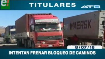 Titulares de TV: Gobierno convoca al diálogo al transporte pesado para evitar el bloqueo nacional