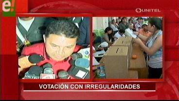 Votaciones en la Uagrm con irregularidades