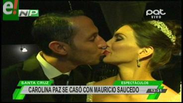Carolina Paz y Mauricio Saucedo se unieron en matrimonio