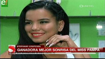 Estefani Céspedes tiene la mejor sonrisa del Miss Pampa de la Isla 2016