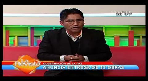 Gobernación de La Paz anuncia entrega de 32 obras para el mes de julio