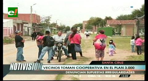 Vecinos del Plan Tres Mil toman cooperativa de agua, denuncian irregularidades