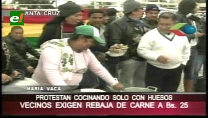 Santa Cruz: La Fejuve sale a la calle a protestar por el precio de la carne