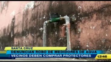 Denuncian robo de medidores de agua en Santa Cruz