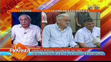 """Peredo ve que """"embrollan"""" el caso terrorismo y pide indulto para Prado """"por humanidad"""""""