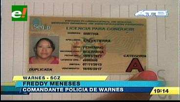 Warnes: Aprehenden a mujer que atropelló y se dio a la fuga