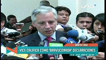 """Vicepresidente califica de """"exabrupto"""" las declaraciones del canciller Muñoz"""