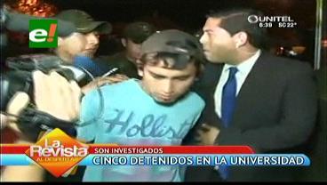 Detienen a cinco jóvenes por apagón que perjudicó conteo de votos en la Uagrm