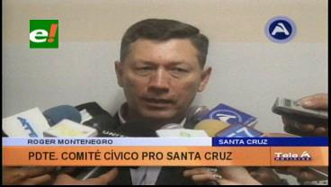 Comité Pro Santa Cruz piden acuerdo entre el Gobierno y el transporte