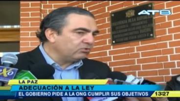 "Hugo Siles: ""Las ONGs deben adecuarse a la ley"""