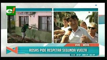 Saúl Rosas pide que se respete la segunda vuelta