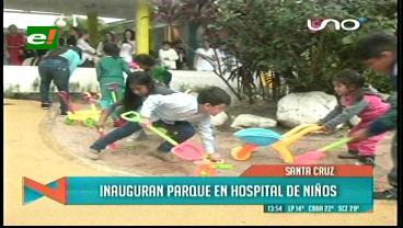 """Hospital de Niños estrena parque infantil """"Tres Sonrisas"""""""