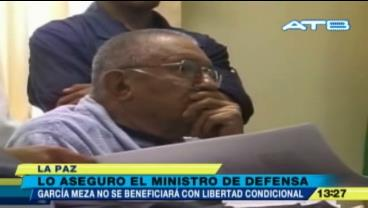 Defensa afirma que García Meza no se beneficiará con libertad y niega que reciba el doble aguinaldo