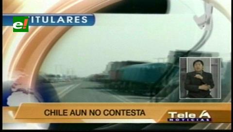 Titulares de TV: Cancillería envió una carta a Chile, pide mejorar las condiciones de trato humano a los transportistas bolivianos