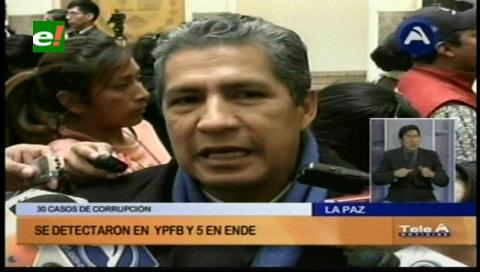 Novillo recibió 31 denuncias de corrupción en YPFB y ENDE