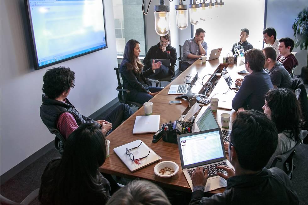 Reunión en las oficinas de Quora de Mountain View.