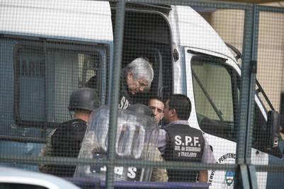 Báez, el socio de los Kirchner, en los Tribunales de Comodoro Py. Foto Gustavo Ortíz.