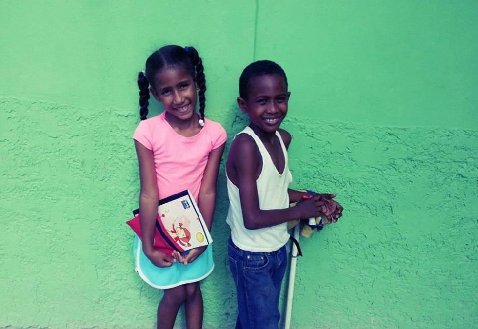 Alumnos de Sabana Yegua.