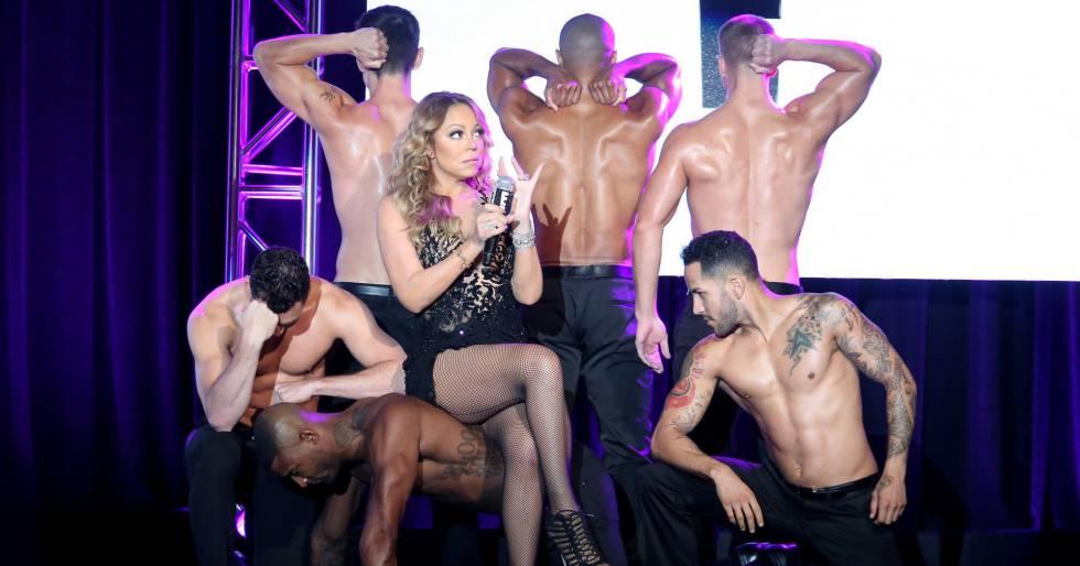 Mariah Carey durante la presentación de
