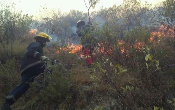 Refuerzan ayuda para sofocar incendio de magnitud en el Parque Tunari, el humo contamina Cochabamba
